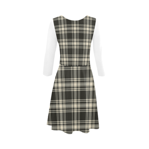 Image of Tartan Sundress - Menzies Black & White Ancient | Women Clothing | Love The World