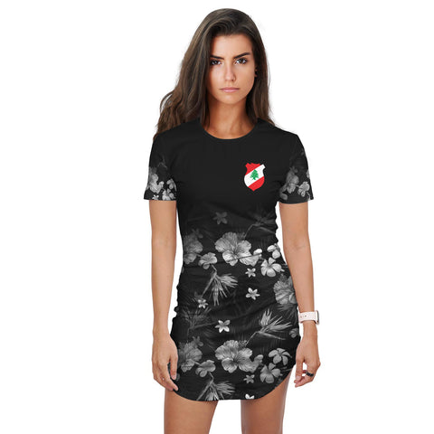 Lebanon T-Shirt Dress Special Hibiscus | Hibiscus Clothings