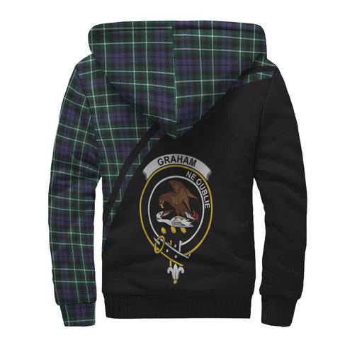 Image of Graham Tartan Hoodie (Sherpa) - Curve Version Back