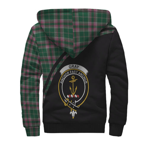 Gray Tartan Hoodie (Sherpa) - Curve Version Back