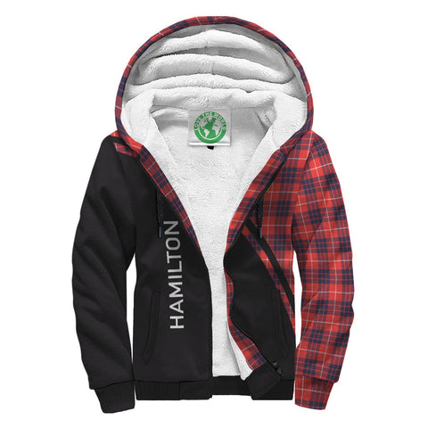 Hamilton Tartan Hoodie (Sherpa) - Curve Version Front