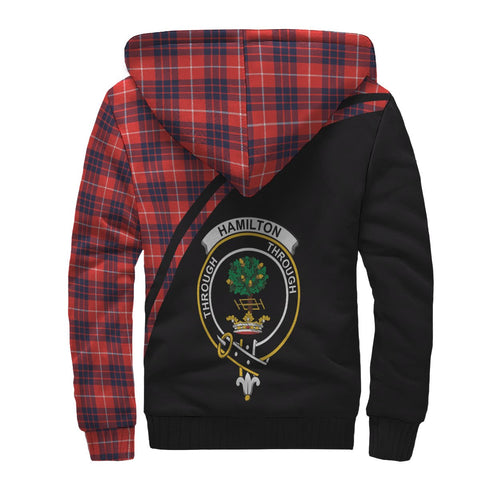 Image of Hamilton Tartan Hoodie (Sherpa) - Curve Version Back