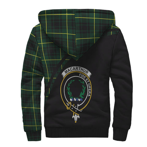Image of MacArthur Tartan Hoodie (Sherpa) - Curve Version Back