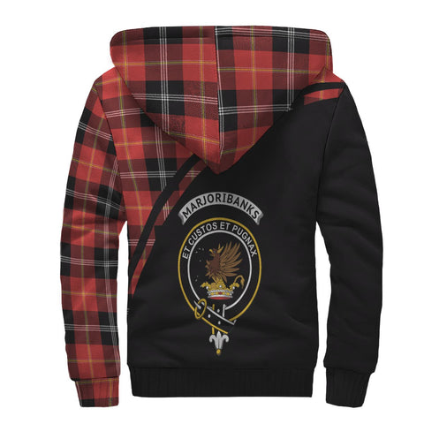 Marjoribanks Tartan Hoodie (Sherpa) - Curve Version Back