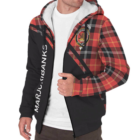 Image of Marjoribanks Tartan Hoodie (Sherpa) - Curve Version - BN
