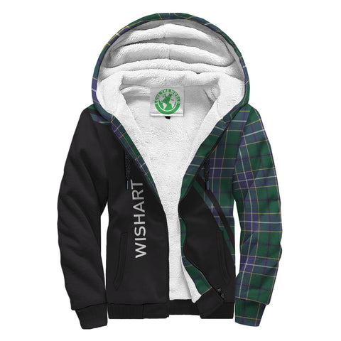 Image of Wishart Tartan Hoodie (Sherpa) - Curve Version Front