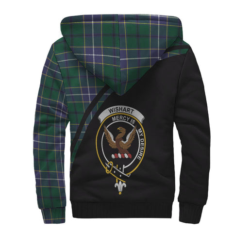 Image of Wishart Tartan Hoodie (Sherpa) - Curve Version Back