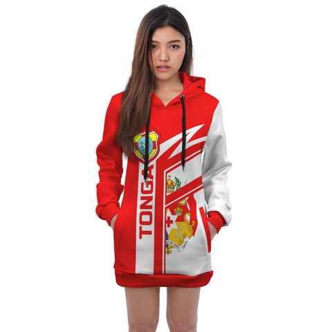 Tonga Rugby Air Hoodie Dress | 1sttheworld.com