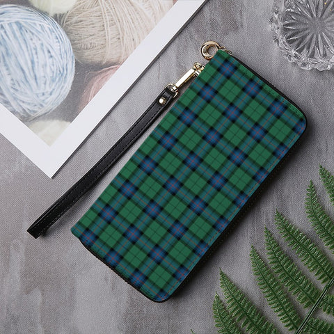 Image of AMSTRONG ANCIENT TARTAN ZIPPER WALLET HJ4