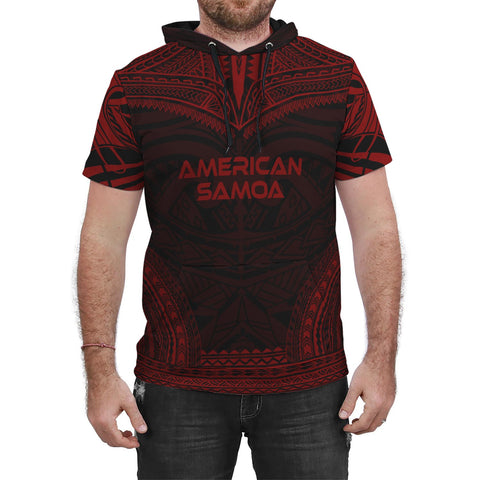 Image of American Samoa Red Polynesian Chief Hoodie T-Shirt