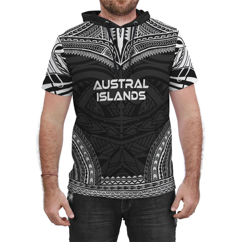 Image of Austral Islands Black Polynesian Chief Hoodie T-Shirt