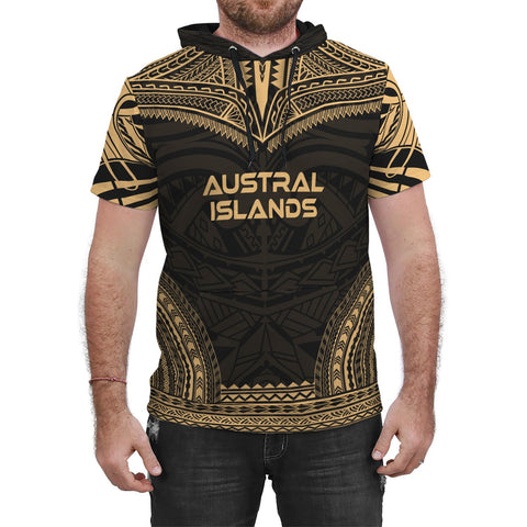 Austral Islands Gold Polynesian Chief Hoodie T-Shirt