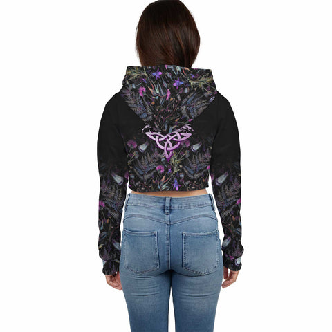 Munro Crest Crop Top Hoodie Scottish Thistle | Over 300 Clans | High Quality