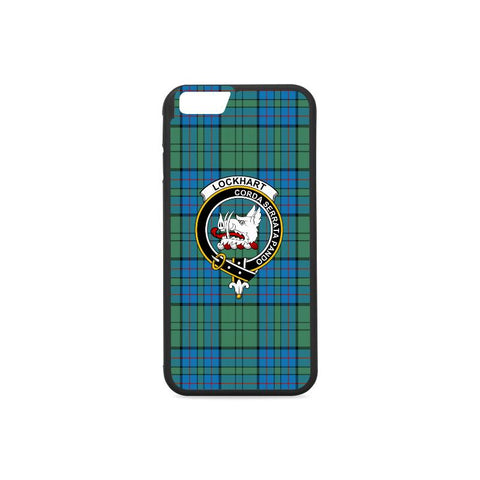 Lockhart Tartan Clan Badge Rubber Phone Case HJ4