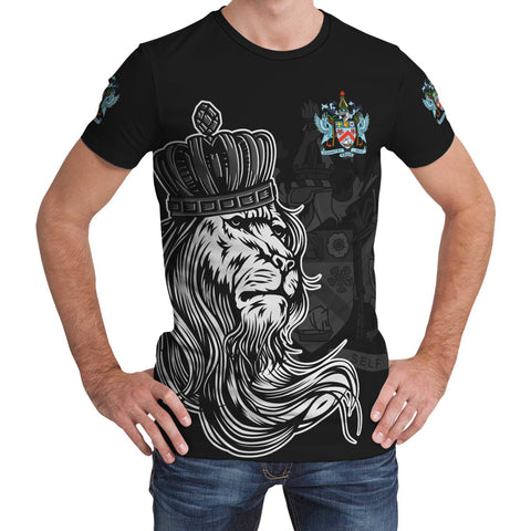 Saint Kitts and Nevis T-Shirt - Lion with Crown (Women's/Men's) | Unisex Clothing
