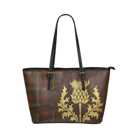 Fraser Hunting Modern Leather Tote Bag