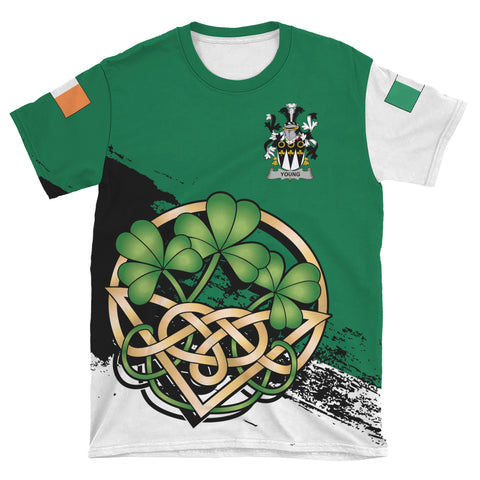 Image of Young Ireland T-shirt Shamrock Celtic | Unisex Clothing