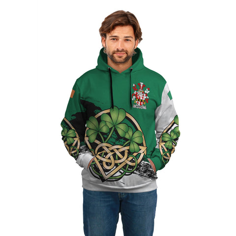 Image of Murphy (Muskerry) Ireland Hoodie Shamrock Celtic A02