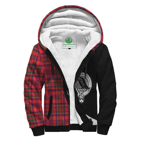 Fort McMurray Tartan Circle Sherpa Hoodie HJ4