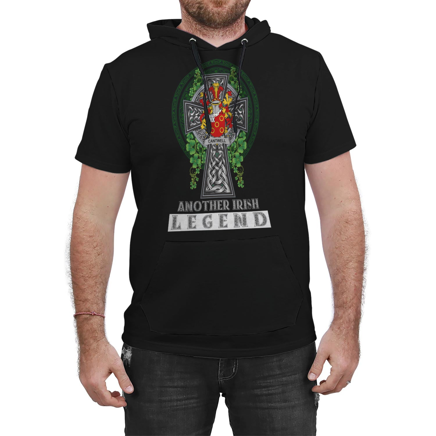 Cantwell Ireland Hooded T-Shirt Irish Legend | Clothing | Over 1400 Crests