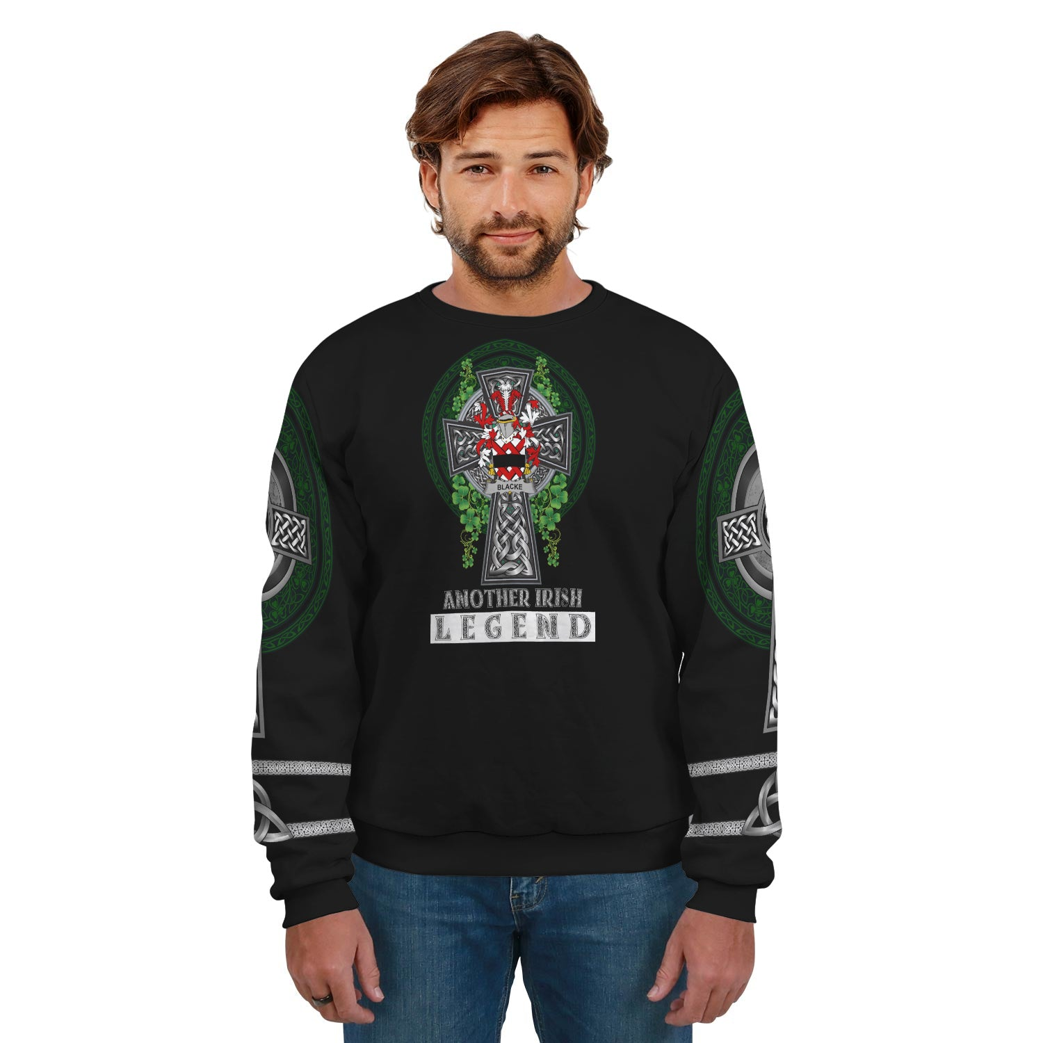 Blacke Ireland SweatShirt Irish Legend - Irish Family Crest | Over 1400 Crests | Clothing | Apparel