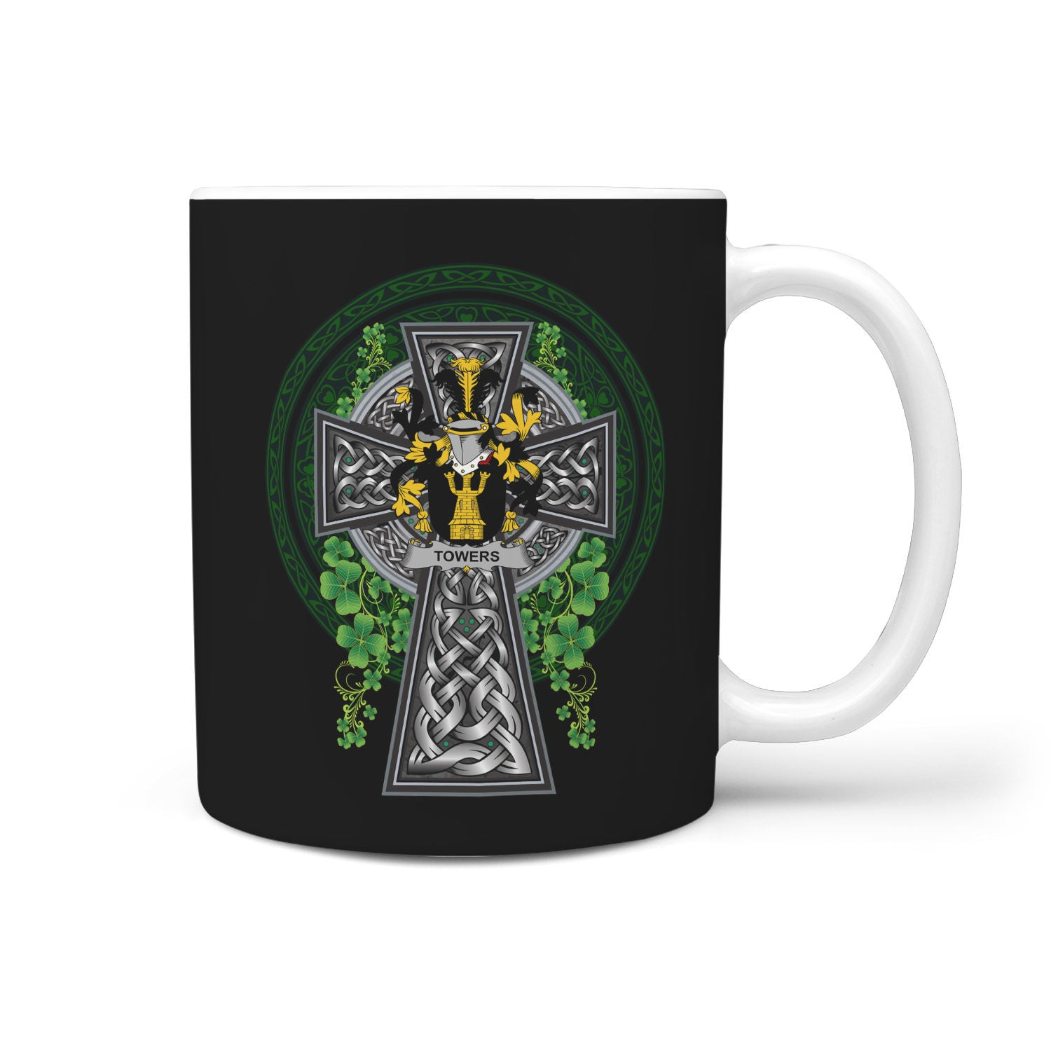 Towers Ireland Mug Irish Legend - Irish Family Crest | Over 1400 Crest | Accessories | 1sttheworld