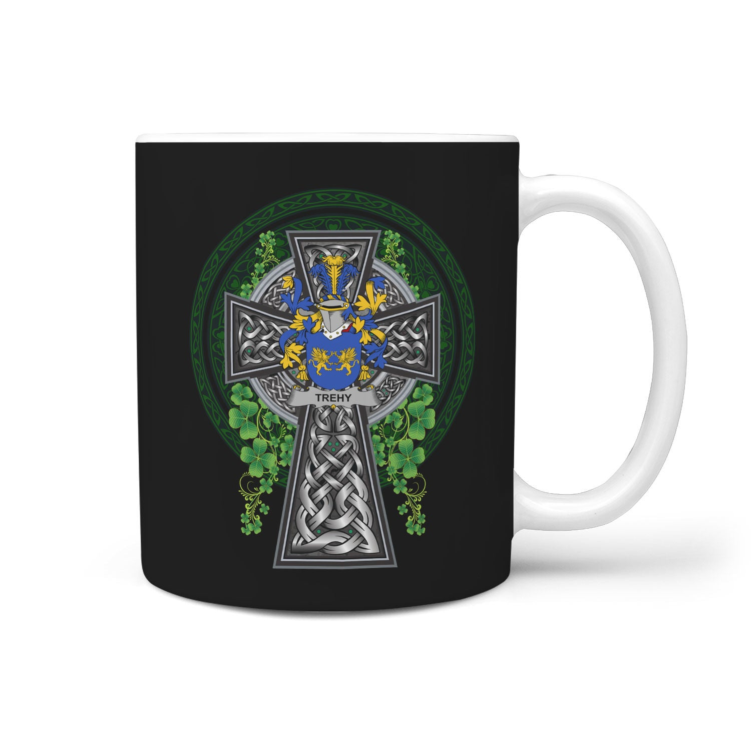 Trehy or O'Trehy Ireland Mug Irish Legend - Irish Family Crest | Over 1400 Crest | Accessories | 1sttheworld