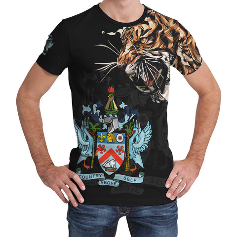 Saint Kitts and Nevis T-Shirt Tiger - Special Version | Women & Men | Clothing | Apparel