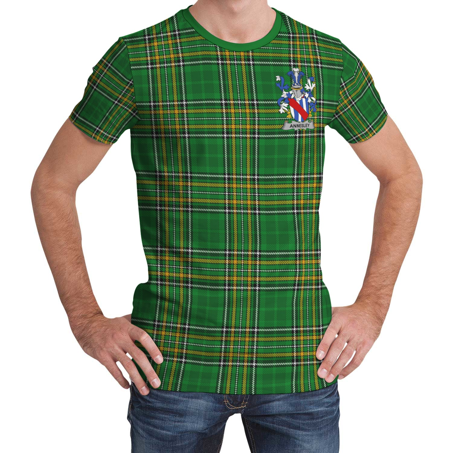 Annesley Ireland T-Shirt Irish National Tartan | Over 1400 Crests | Clothing | Apparel