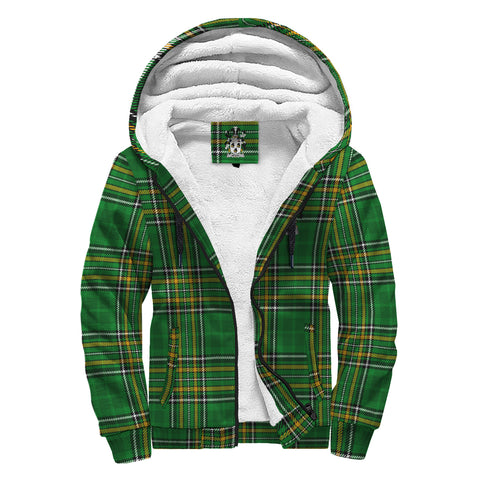 Wolfe Ireland Sherpa Hoodie Irish National Tartan | Over 1400 Crests | Clothing | Apparel