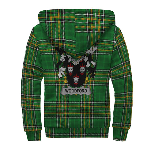 Woodford Ireland Sherpa Hoodie Irish National Tartan | Over 1400 Crests | Clothing | Apparel