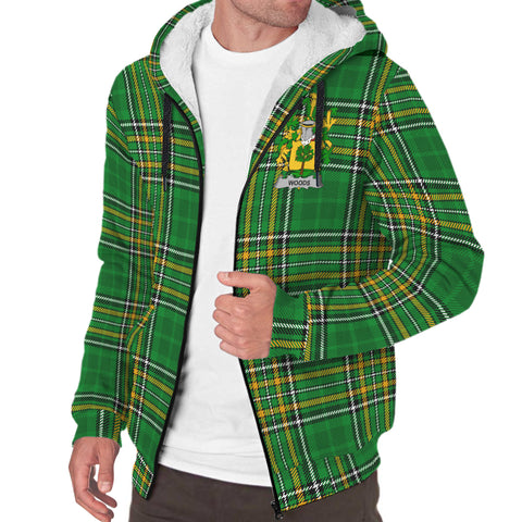 Woods Ireland Sherpa Hoodie Irish National Tartan | Over 1400 Crests | Clothing | Apparel