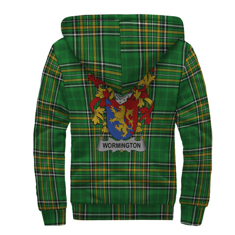Wormington Ireland Sherpa Hoodie Irish National Tartan | Over 1400 Crests | Clothing | Apparel