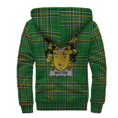 Image of Wotton Ireland Sherpa Hoodie Irish National Tartan | Over 1400 Crests | Clothing | Apparel
