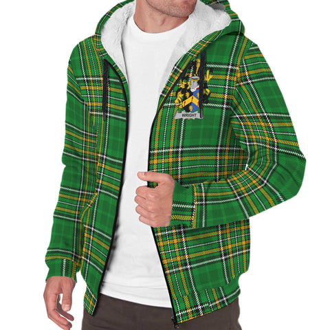 Wright Ireland Sherpa Hoodie Irish National Tartan | Over 1400 Crests | Clothing | Apparel