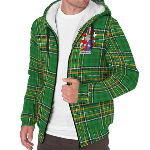 Image of Wybrants Ireland Sherpa Hoodie Irish National Tartan | Over 1400 Crests | Clothing | Apparel
