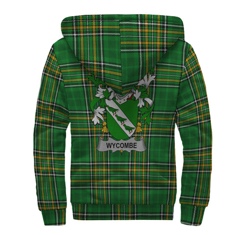 Wycombe Ireland Sherpa Hoodie Irish National Tartan | Over 1400 Crests | Clothing | Apparel