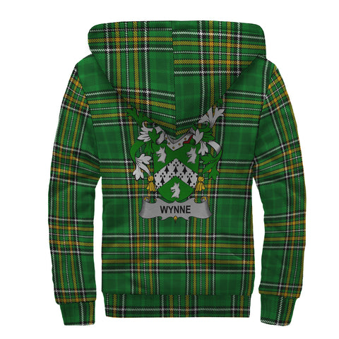 Image of Wynne Ireland Sherpa Hoodie Irish National Tartan | Over 1400 Crests | Clothing | Apparel