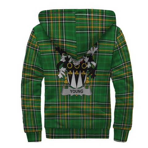 Young Ireland Sherpa Hoodie Irish National Tartan | Over 1400 Crests | Clothing | Apparel