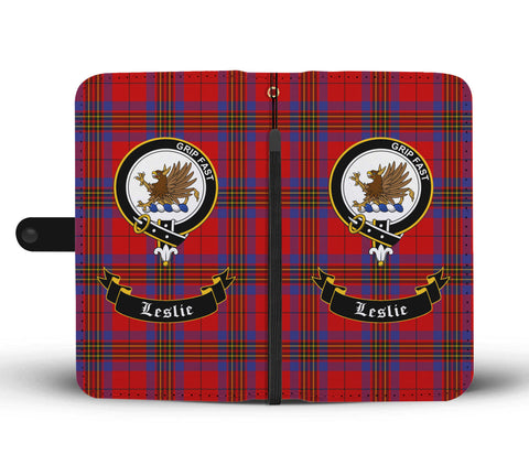 Tartan Wallet Case - Leslie Clan | Scottish Wallet Case | 1sttheworld