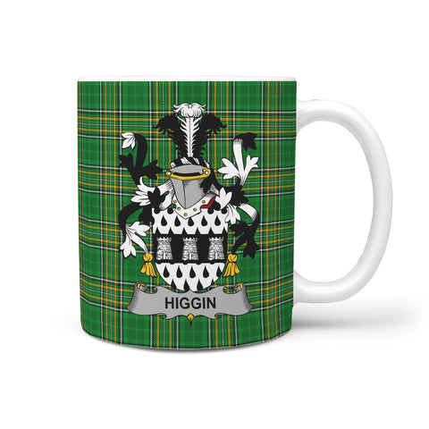 Image of Higgin or O'Higgin Ireland Mug Irish National Tartan | Over 1400 Crests | Accessories | Highest Quality