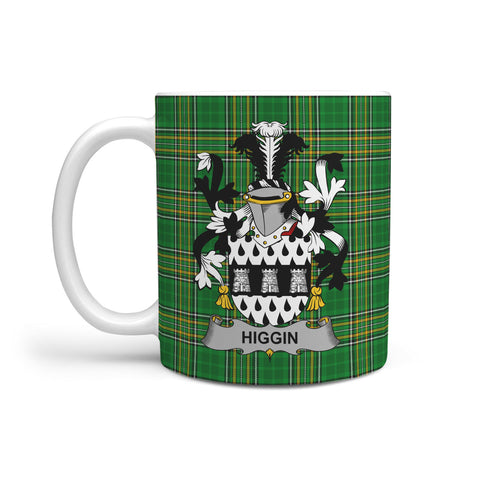Higgin or O'Higgin Ireland Mug Irish National Tartan | Over 1400 Crests | Accessories | Highest Quality