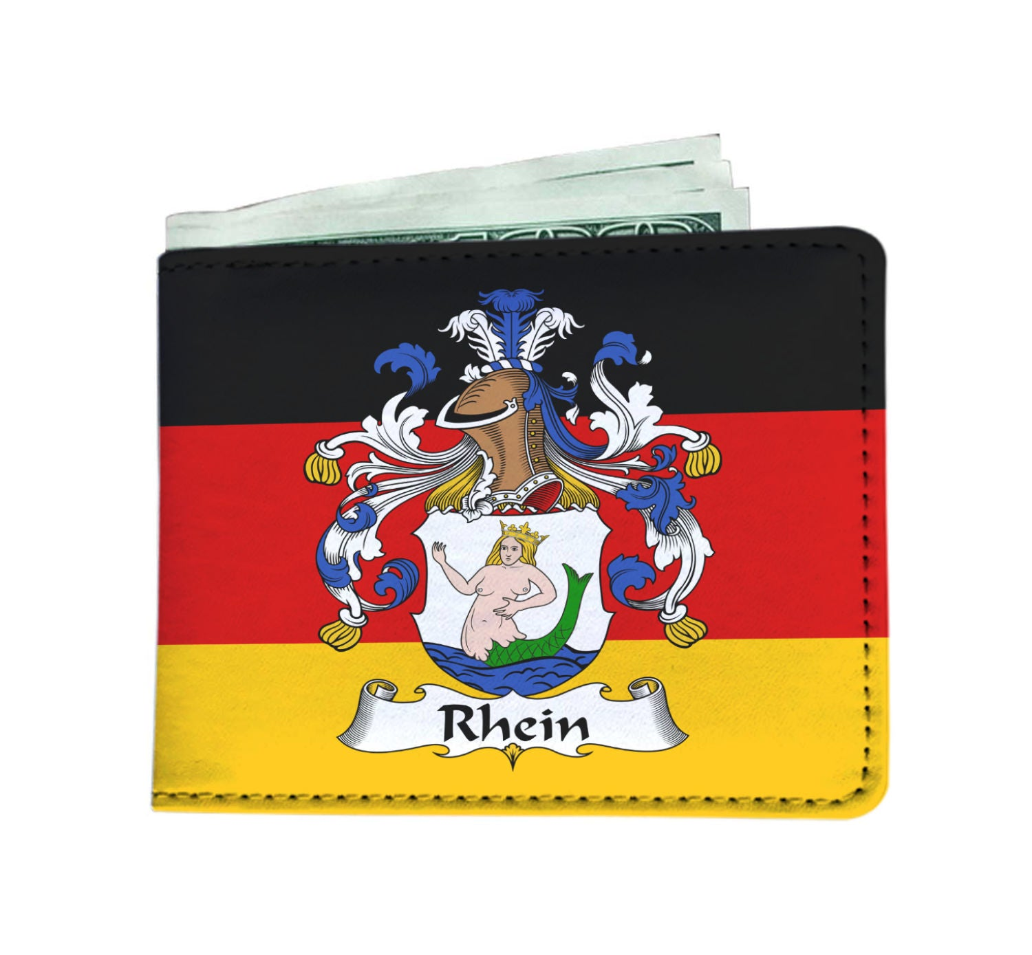 Rhein Wallet Germany Flag - German Family Crest A7