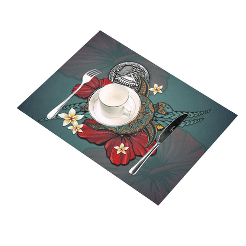 American Samoa Placemat - Blue Turtle Tribal A02