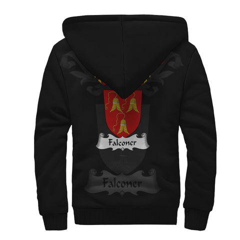 Falconer Family Crest Sherpa Hoodie (Women's/Men's) | Over 1200 Crests | Clothing | Apparel