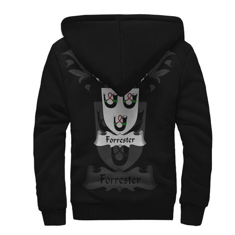 Forrester Family Crest Sherpa Hoodie (Women's/Men's) | Over 1200 Crests | Clothing | Apparel