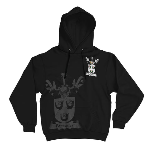 Image of Forrester Family Crest Hoodie (Women's/Men's) | Over 1200 Crests | Clothing | Apparel