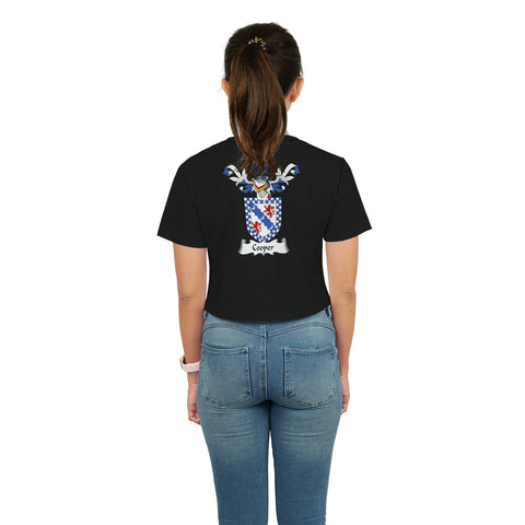 Cooper Family Crest Crop T-Shirt | Over 1200 Crests | Clothing | Apparel