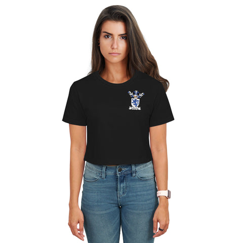 Image of Galloway Family Crest Crop T-Shirt | Over 1200 Crests | Clothing | Apparel