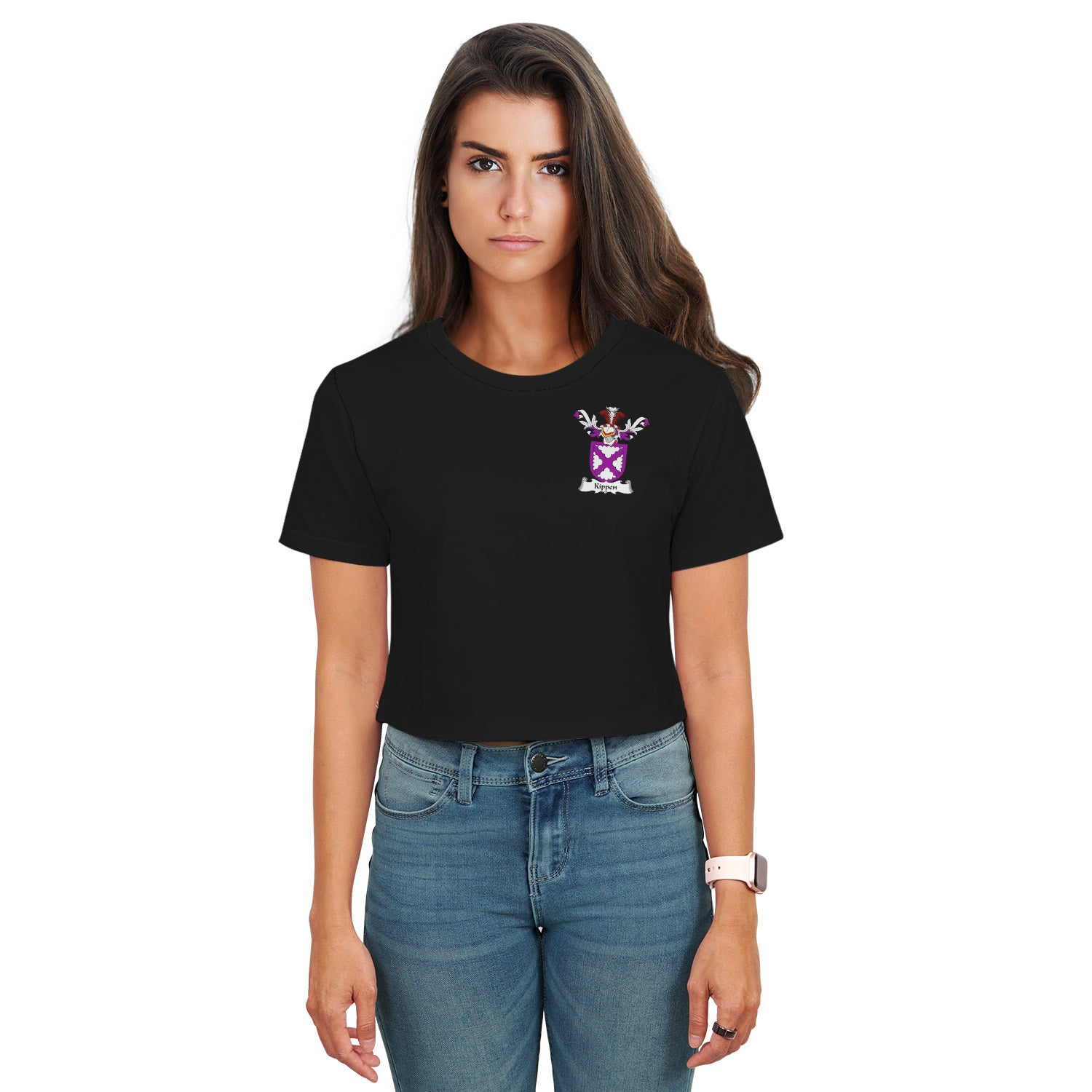 Kippen Family Crest Crop T-Shirt | Over 1200 Crests | Clothing | Apparel